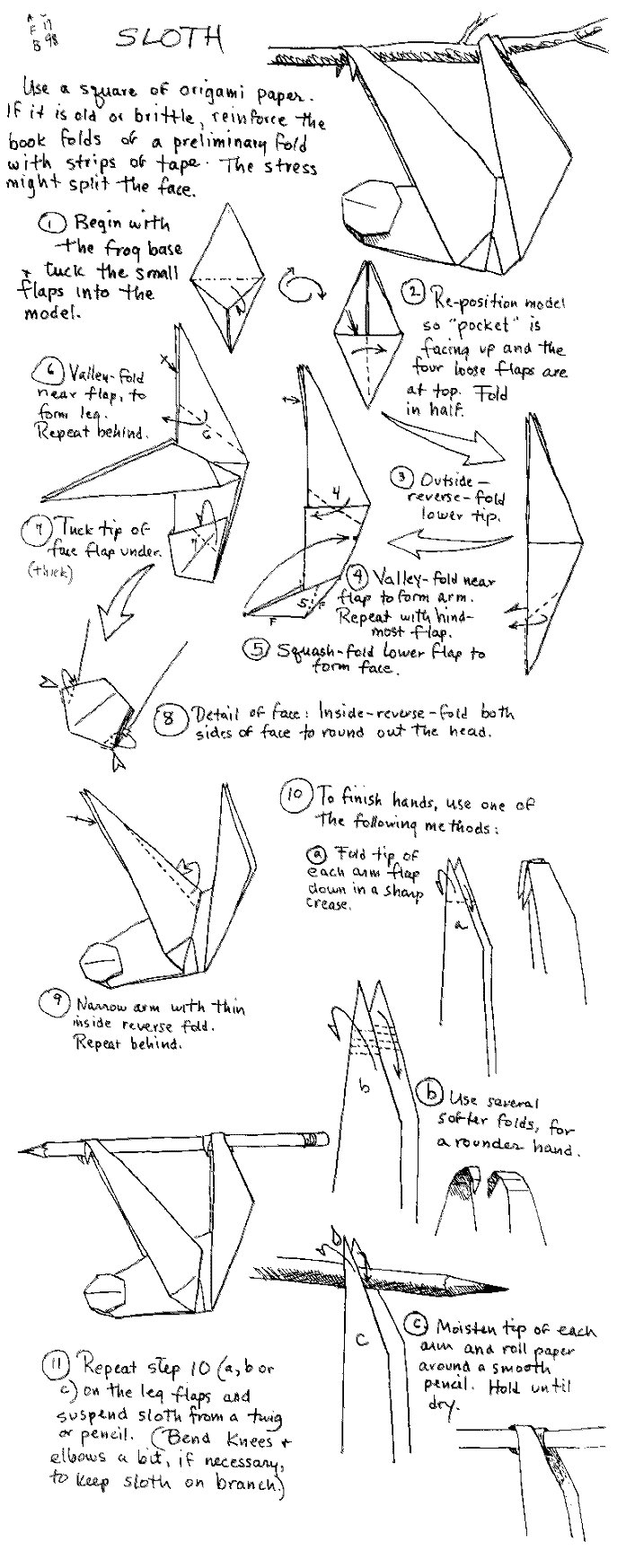 My origami sloth