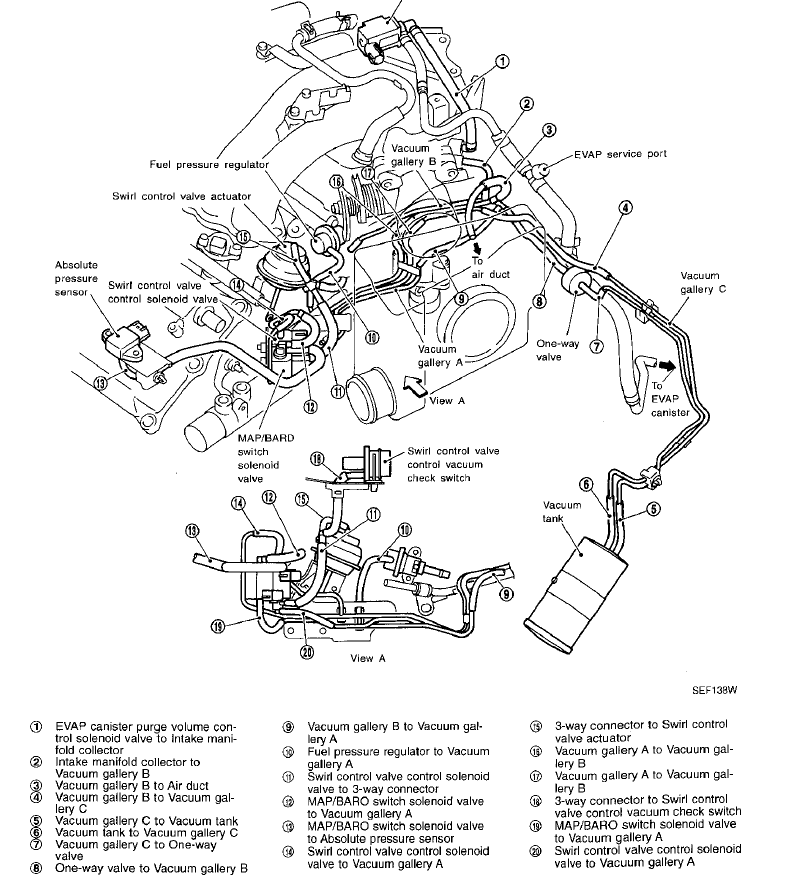 1995 nissan maxima hose diagram  nissan  auto parts