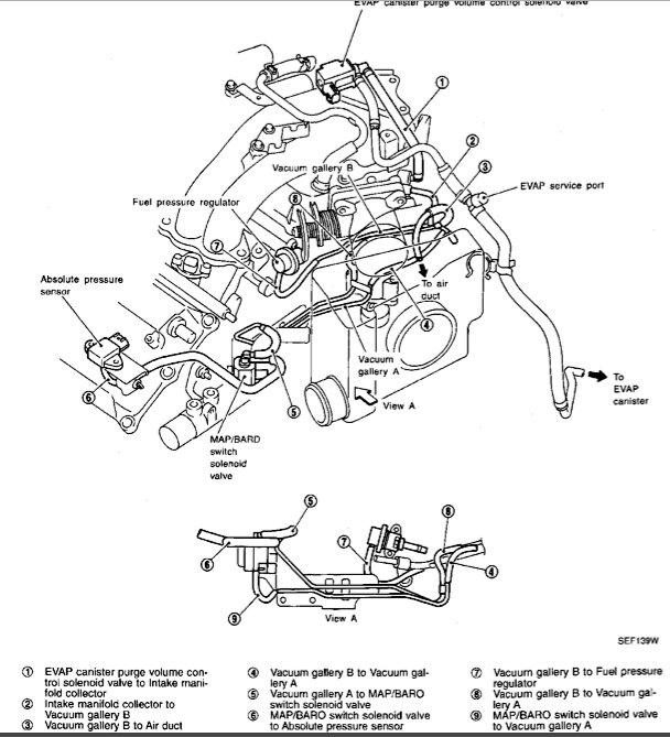 2001 Nissan maxima vacuum diagram