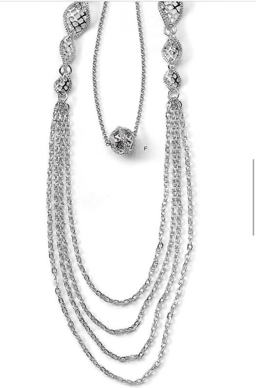 Exquisite lia sophia Silver Necklaces up for bids at