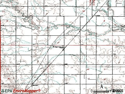 Capron Oklahoma OK 73717 profile population maps