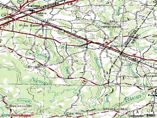 Princeton Nc Map.Princeton Nc Zip Code Map