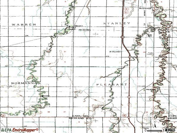 Horace North Dakota Map