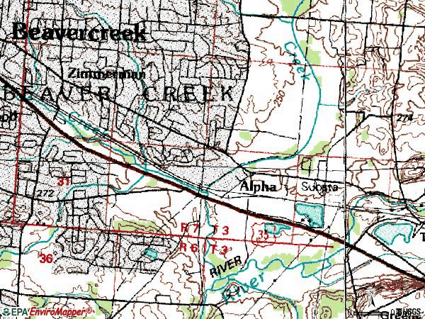 Dayton Ohio Zip Code Map
