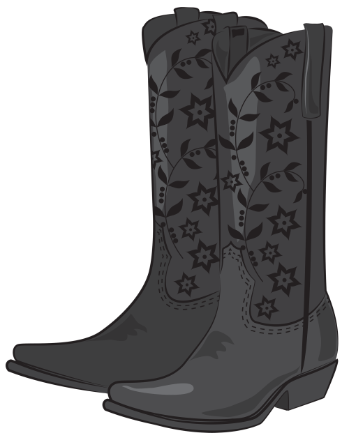 small resolution of black cowboy boots png clipart