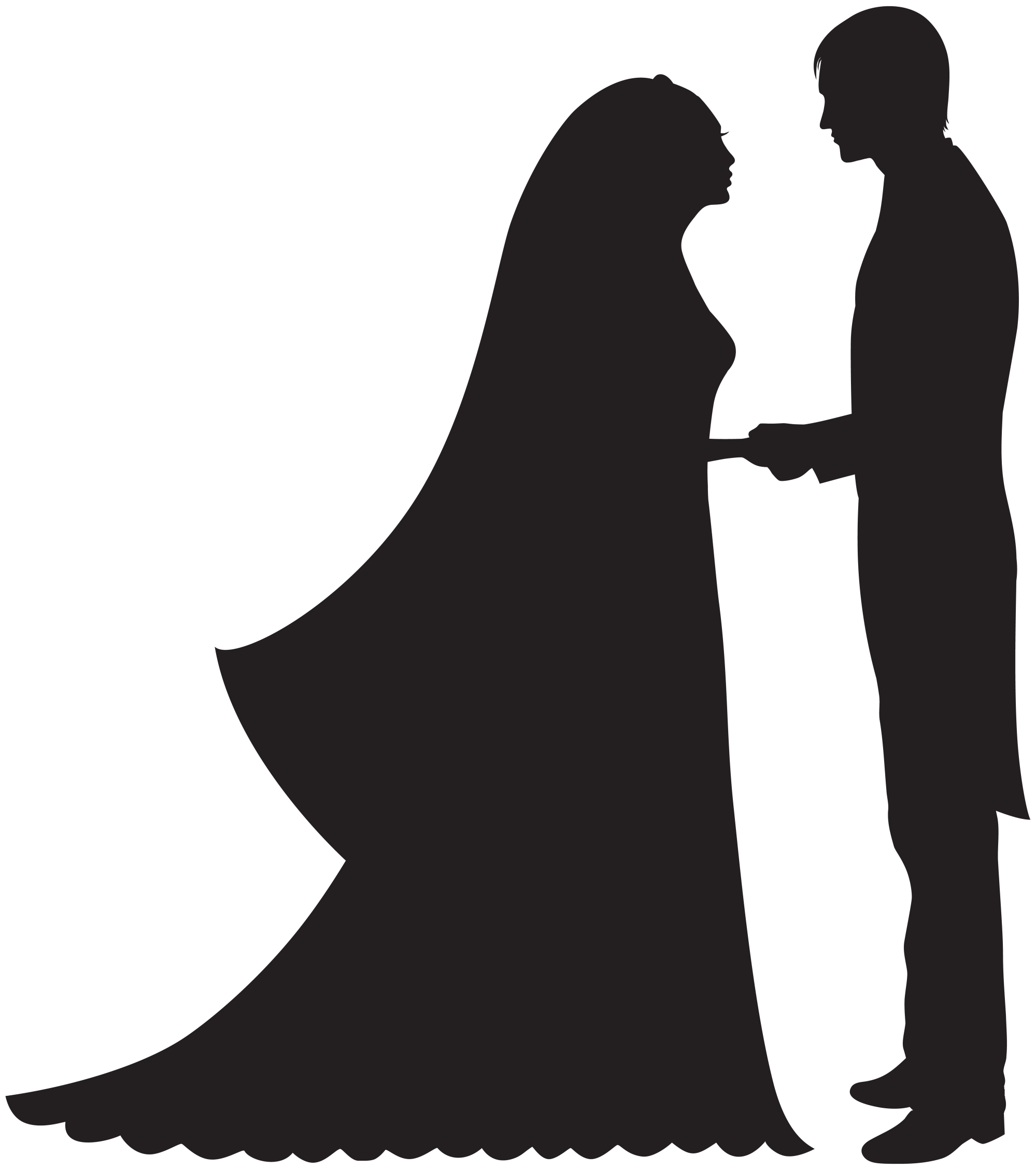hight resolution of bride and groom png clip art