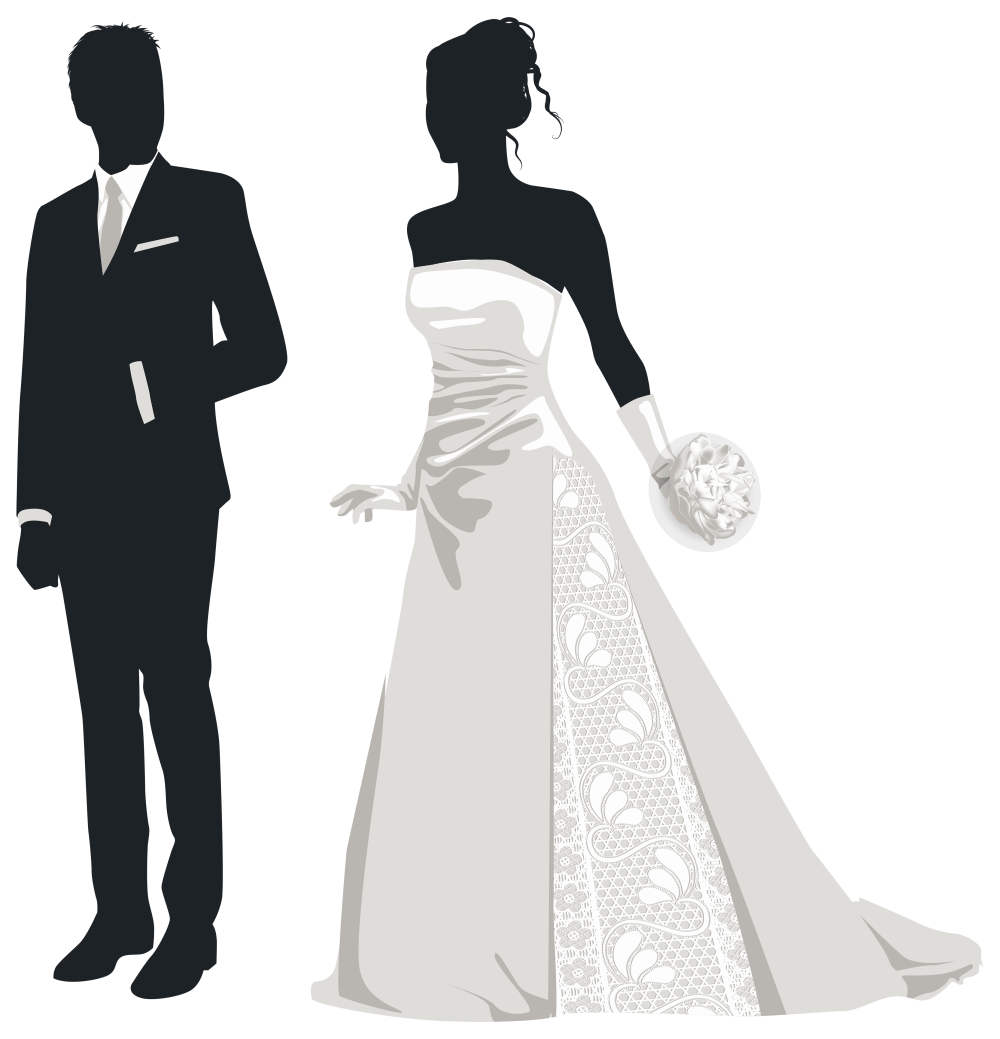 medium resolution of bride and groom silhouettes png clip art