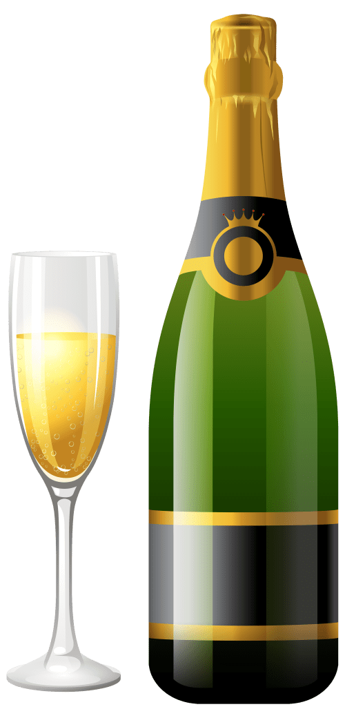small resolution of champagne bottle with glass png clipart