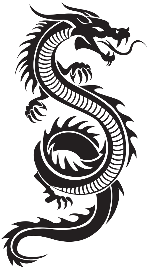 small resolution of chinese dragon silhouette png clip art