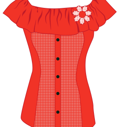 female red top png clipart [ 3287 x 4000 Pixel ]