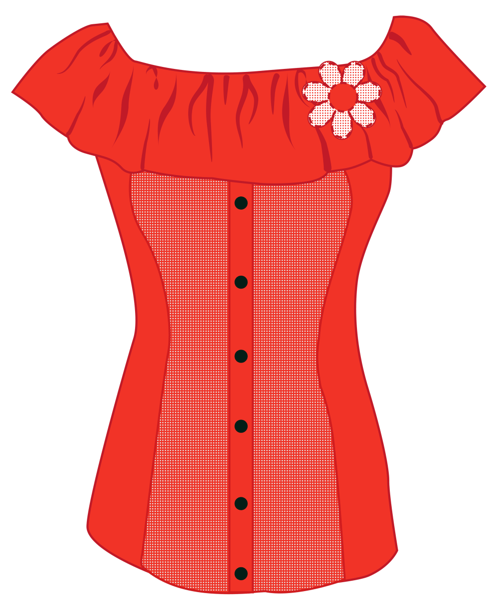 medium resolution of female red top png clipart