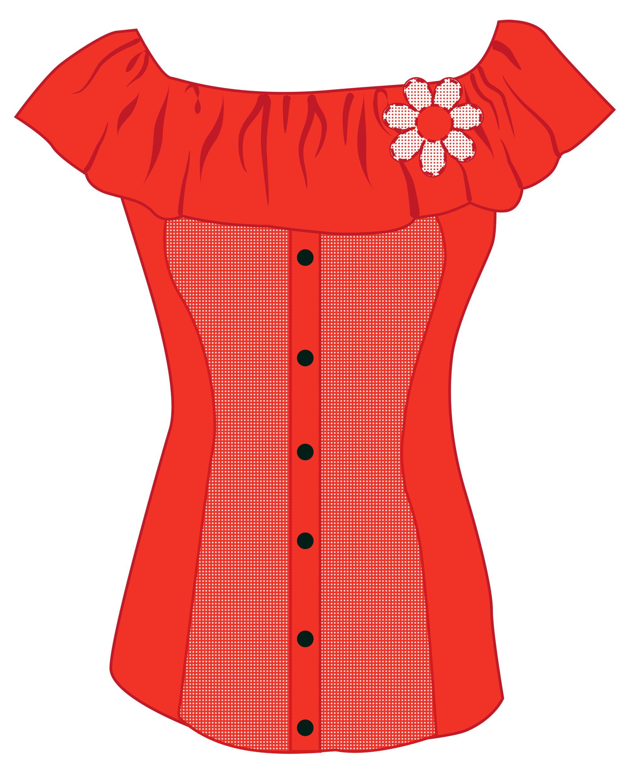 hight resolution of female red top png clipart