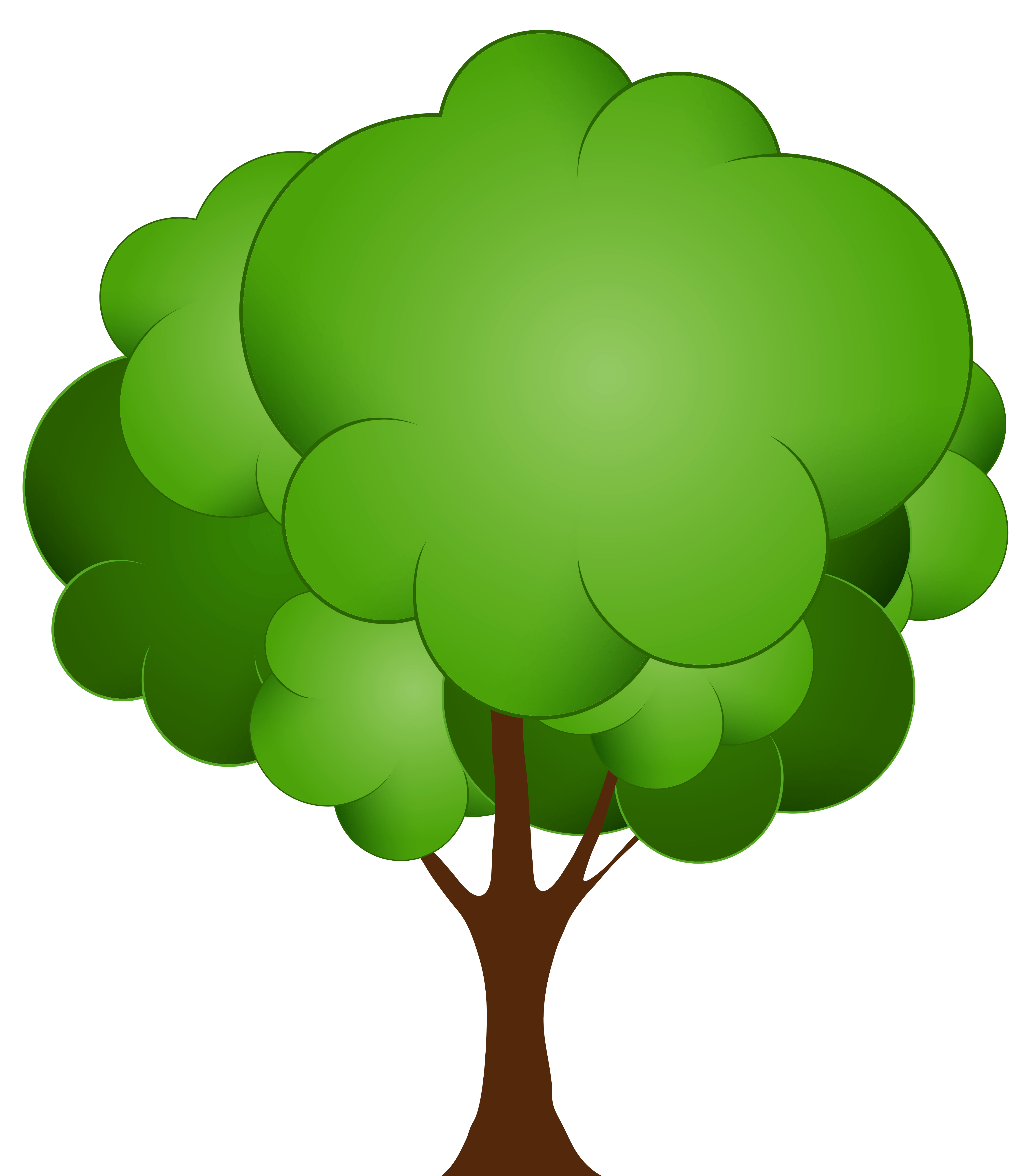 green tree png clip