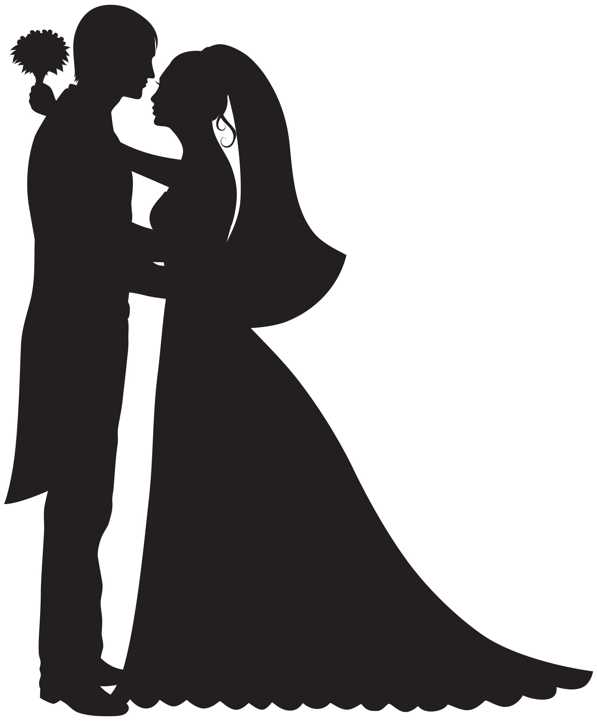 hight resolution of groom and bride png clip art