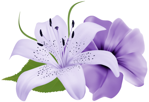 small resolution of purple deco flowers png clipart