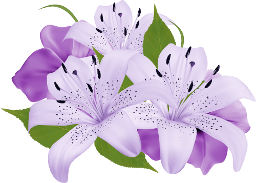 small resolution of purple decorative flowers png clipart