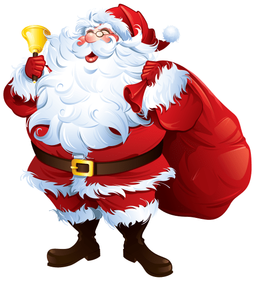 small resolution of santa claus with bell and bag png clipart