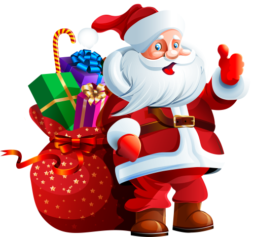 small resolution of santa claus with big bag png clipart