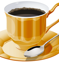 yellow cup of coffee png clipart [ 4000 x 2926 Pixel ]