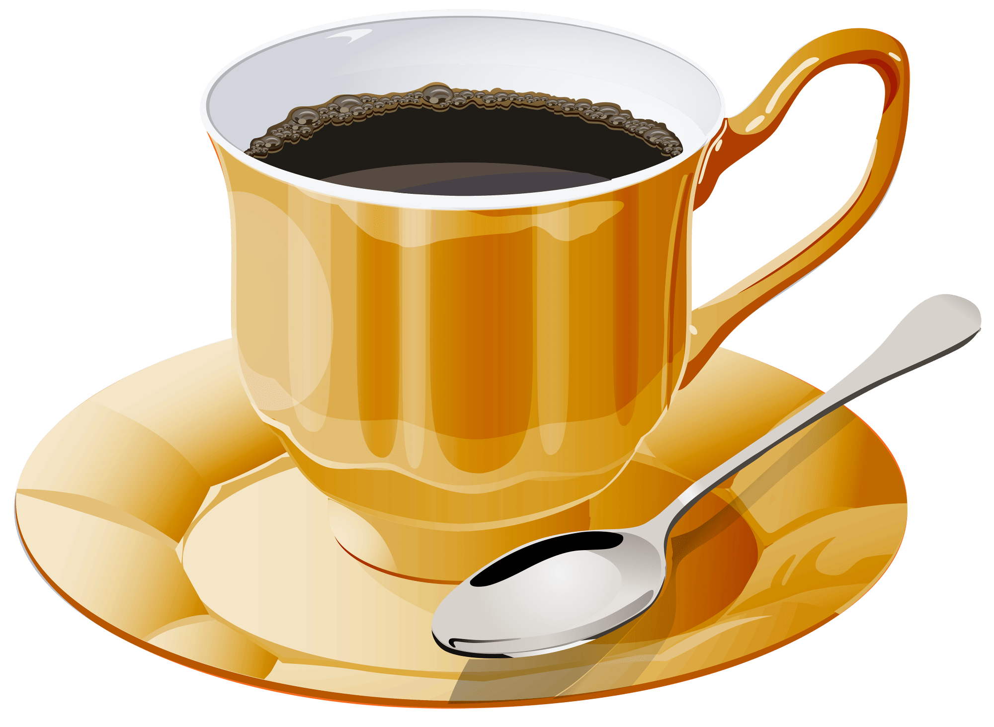 hight resolution of yellow cup of coffee png clipart