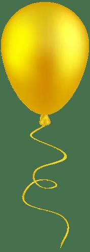 yellow balloon clip art