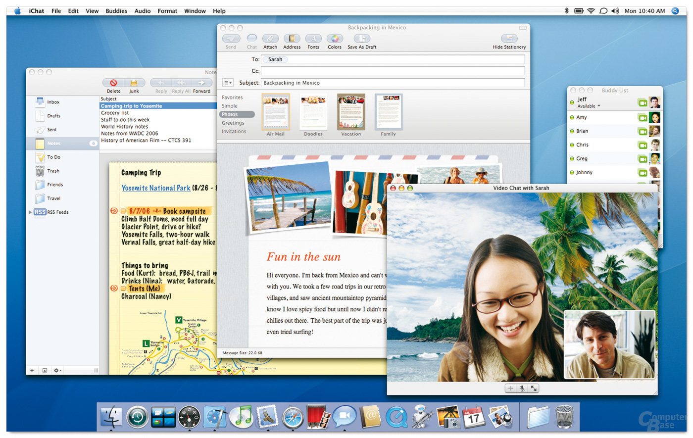 mac os x leopard (version 10.5) is the sixth major release of mac os x (now named macos), apple's desktop and server operating system for macintosh computers. Apple Zeigt Mac Os 10 5 Leopard In Aktion Computerbase