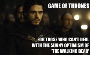 Image result for game of thrones walking dead memes