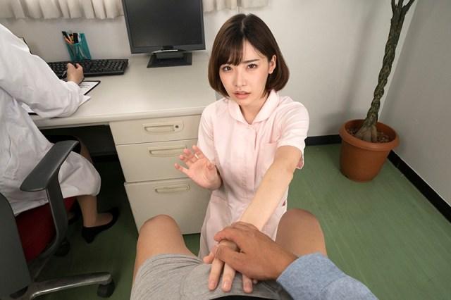 1dandyhqvr00004jp 10 - 【VR】採精室でAVを見てたら本人登場! 現役AV女優看護師が精液検査を凄テクで 手伝ってくれた◆深田えいみ
