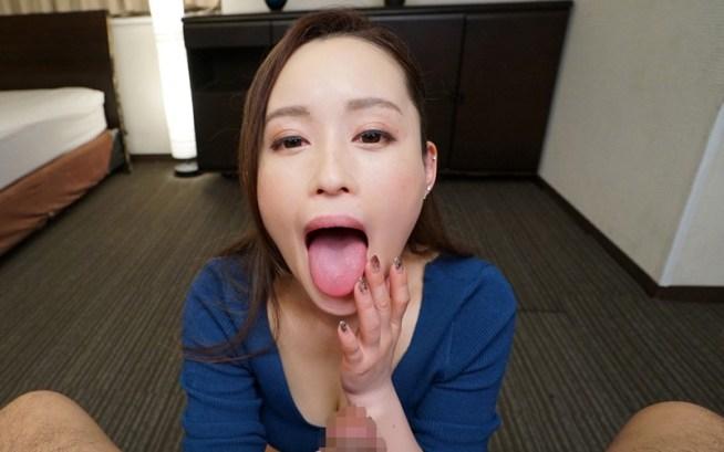 桐嶋りののデカ舌フェラ6