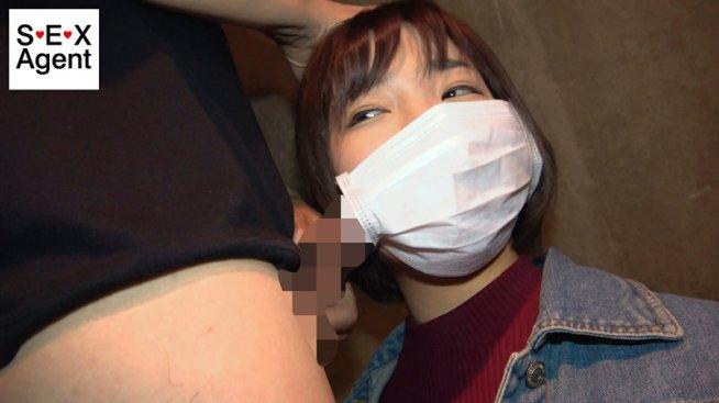 顔出しNG素人女子のマスク着用フェラチオ