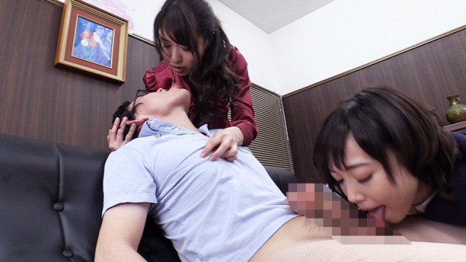 女上司にディープキス強要されながら可愛い部下に優しくフェラチオされ続ける。6