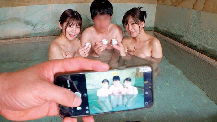 熱海温泉で見つけた素人女子大生さん!タオル一枚童貞君と男湯に入ってみ… のサンプル画像 11枚目