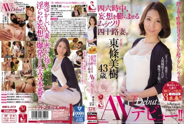 四六時中、妄想を膨らませるムッツリ四十路妻。 東條美樹 43歳 AVデビュー!!