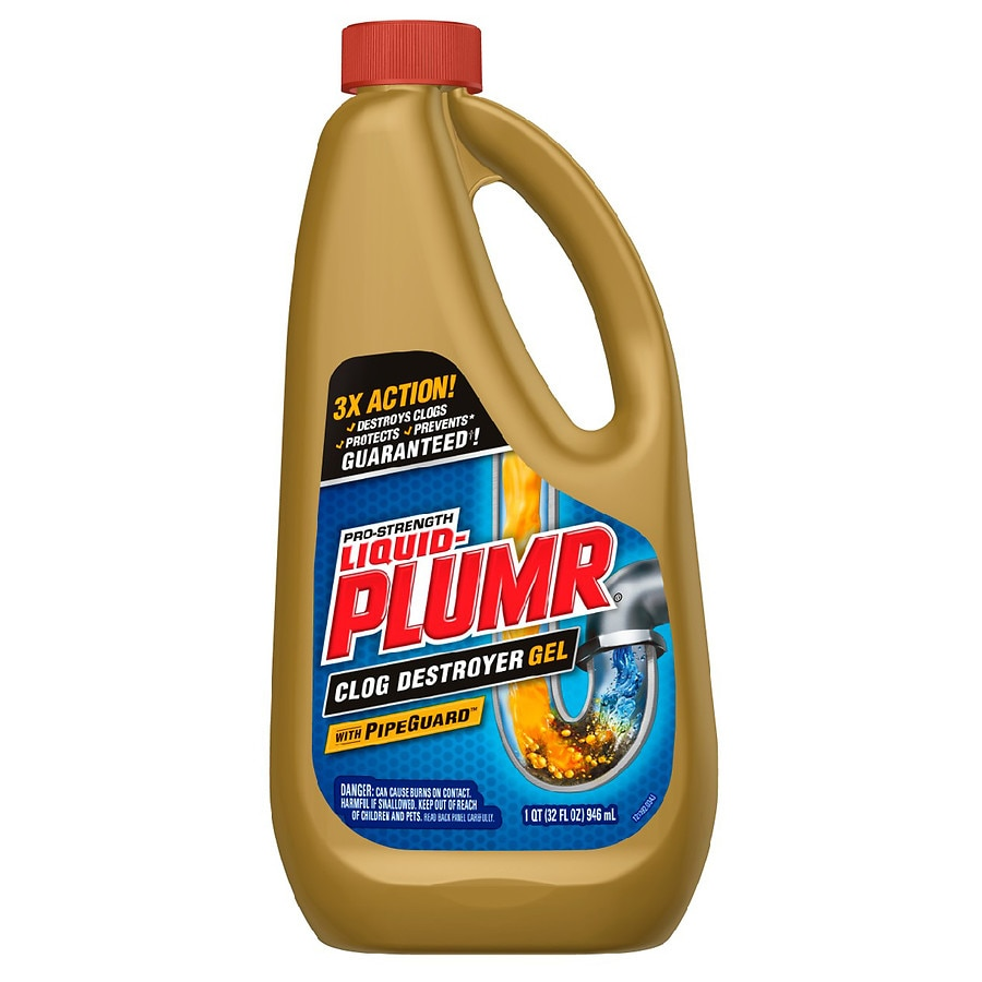 liquid plumr pro strength clog destroyer gel with pipeguard
