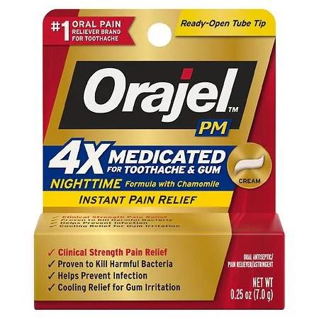 Orajel PM Toothache Pain Relief Long Lasting Cream ...