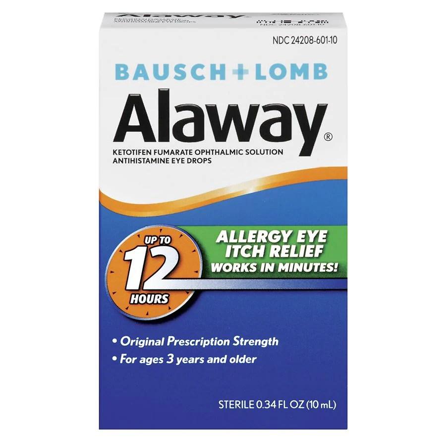 Bausch + Lomb Alaway Eye Itch Relief Antihistamine Eye ...