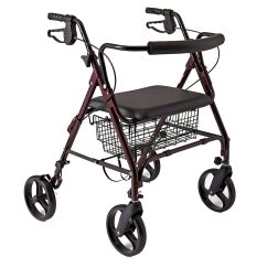 Walker Roller Chair Recliner Chairs For Sale Rollator With Seat Walgreens Medline Guardian Bariatric Heavy Duty Rolling Wheels Burgundy