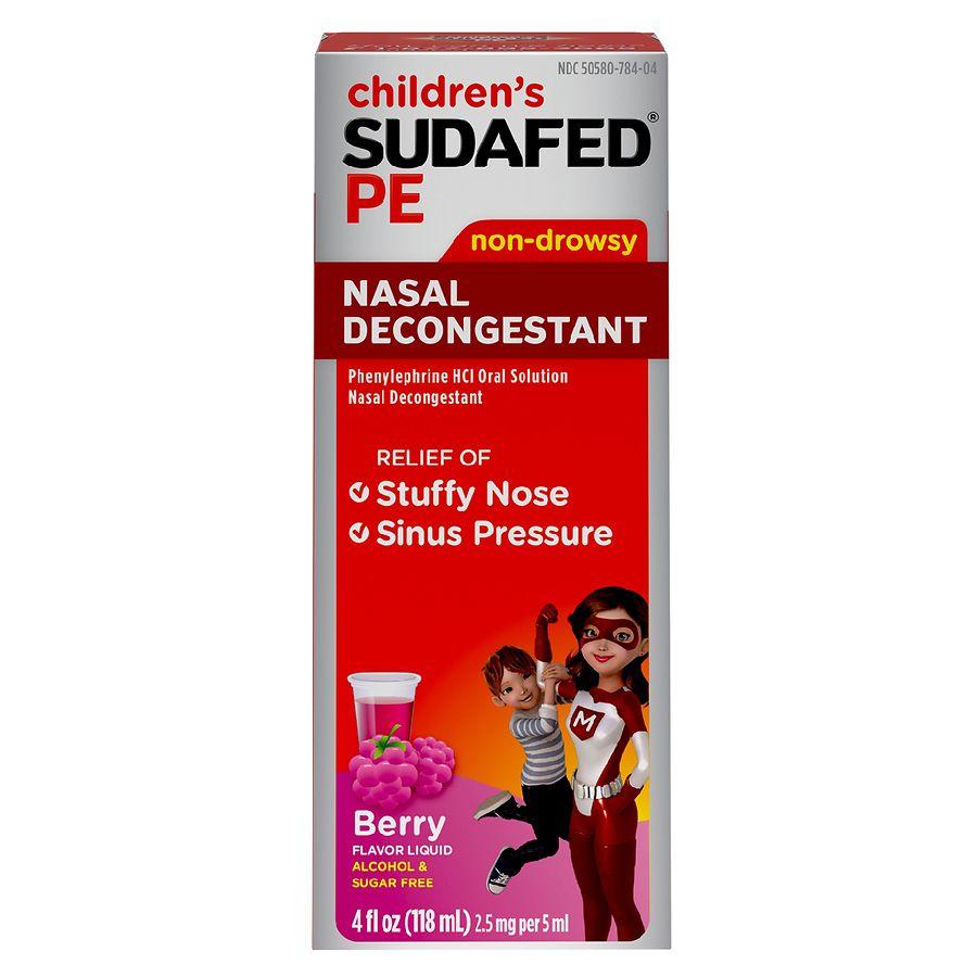 Sudafed PE Children's Non-Drowsy Nasal Decongestant ...