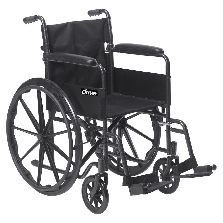 drive wheel chair key west hammock chairs medical silver sport 1 wheelchair with full arms and swing away removable footrest 18 inch1 0 ea