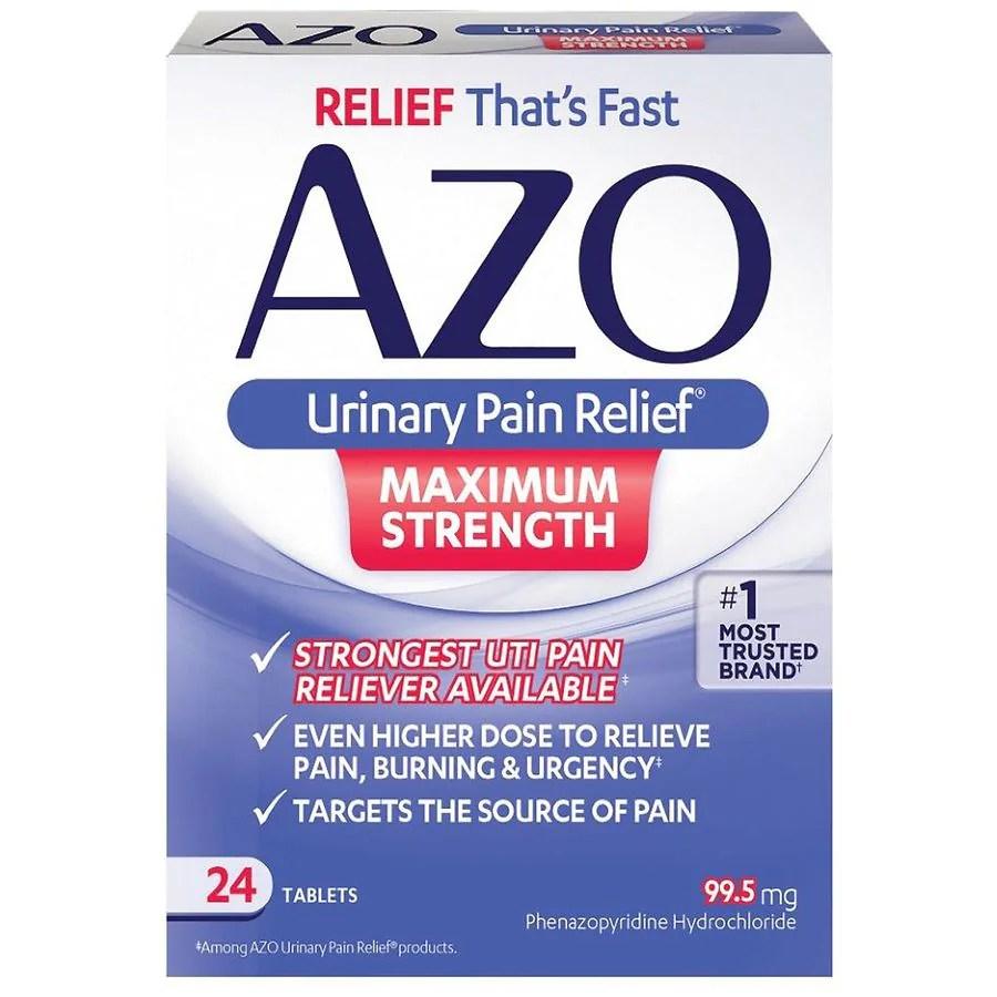 AZO Standard Urinary Pain Relief Tablets   Walgreens