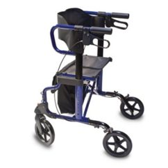 Transport Chair Walgreens Peg Perego Siesta High Review Lumex Combination Rollator And Blue |