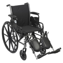 Drive Wheel Chair Baby Folding With Tray Medical Cruiser Iii Lightweight Wheelchair W Flip Back Removable Desk Arms And Leg Rest 20 Inch Black1 0 Ea