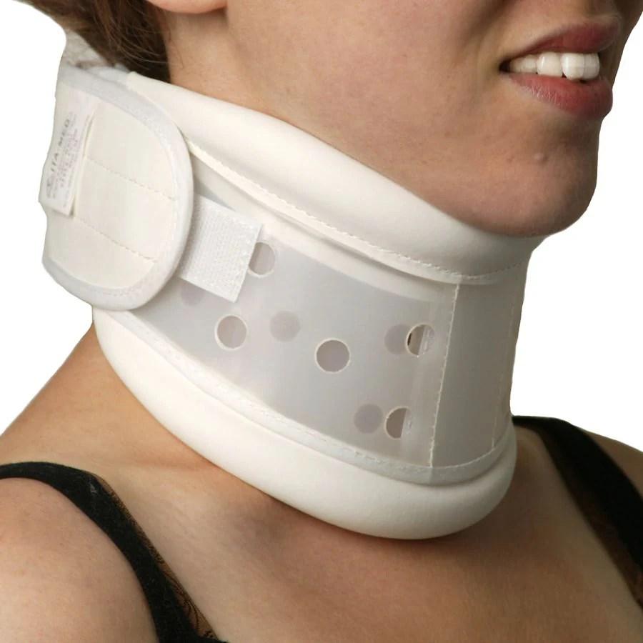 ita med rigid plastic cervical collar white white