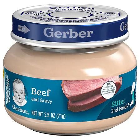 Gerber Baby Food Beef & Beef Gravy