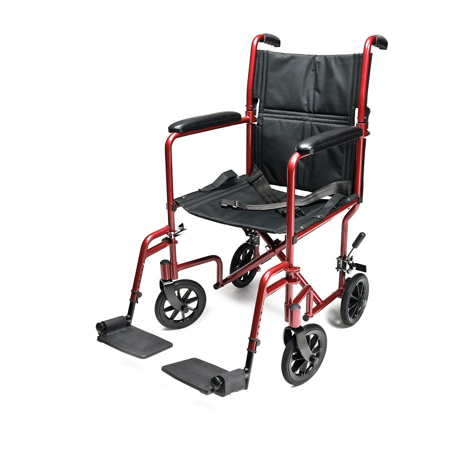 transport chair walgreens the gym everest jennings aluminum 19 in seat red red1 0 ea
