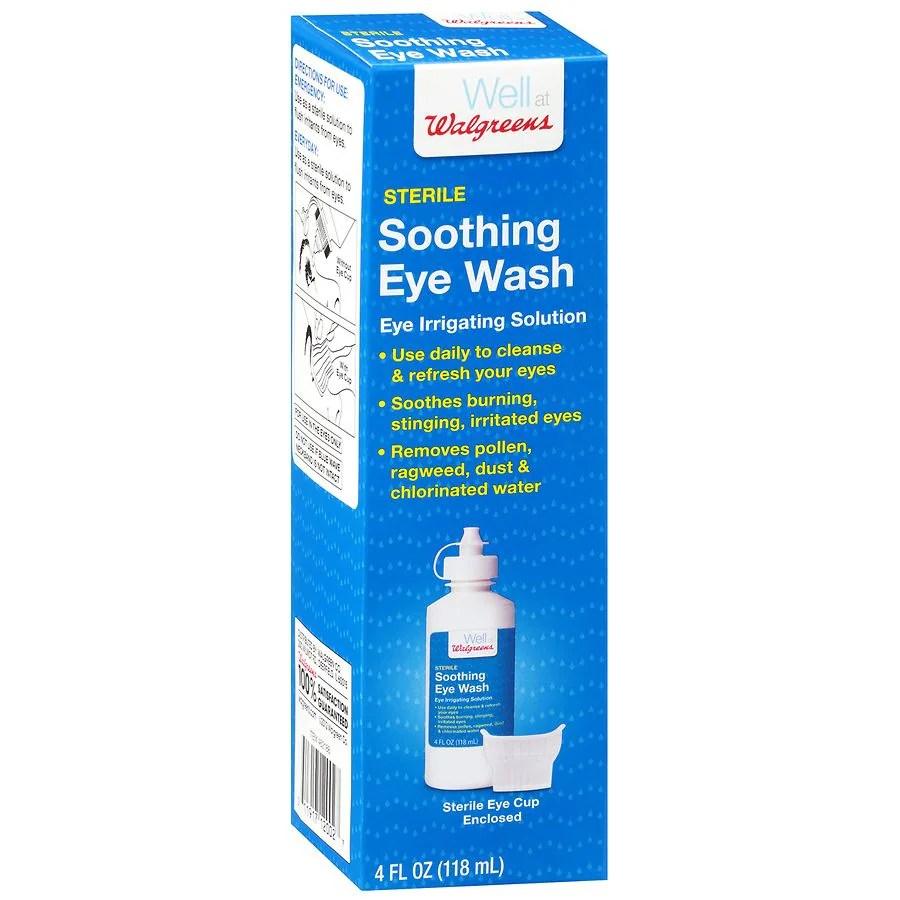 Walgreens Sterile Soothing Eye Wash Eye Irrigating ...