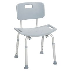 Grey Bathroom Safety Shower Tub Bench Chair Swing Canopy Frame Drive Medical With Back Back1 0 Ea