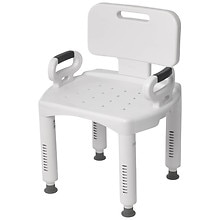 Drive Medical Premium Series Shower Chair with Back  Arms