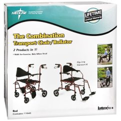 Walgreens Transport Chair Good Chairs For Gaming Medline The Combination Rollator Red Red1 0 Ea