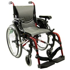 Wheelchair Height Swivel Chair Meaning Karman 18 Inch Aluminum With Adjustable Flip Back Armrests 29 Lbs Red1 0 Ea